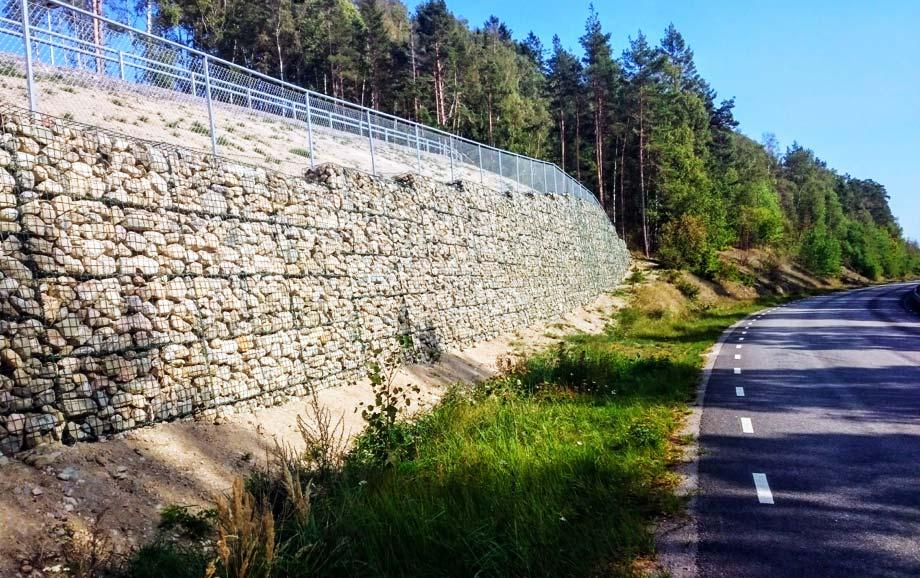 Gabioner vägg
